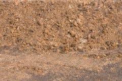 Superficie de la pila de suelo margoso Foto de archivo libre de regalías