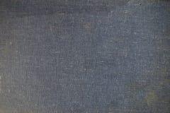 Superficie de la tela del fondo del color azul marino Fotos de archivo