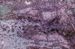 Superficie de mármol púrpura de la losa de la piedra del granito Imagen de archivo