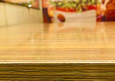 Superficie de madera de la reflexión Fotos de archivo