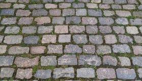 Superficie de piedra del adoquín Imagenes de archivo