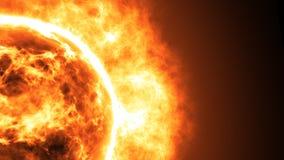 Superficie de Sun con las llamaradas solares Fondo científico abstracto Foto de archivo