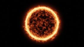 Superficie de Sun y llamaradas solares Foto de archivo libre de regalías