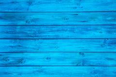 Superficie de un fondo de madera azul vacío Imágenes de archivo libres de regalías