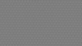Superficie degli esagoni d'acciaio Vista ortografica superiore sottragga la priorità bassa Immagine Stock