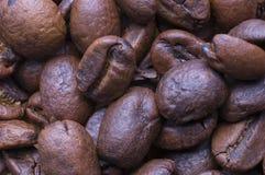 Superficie dei chicchi di caffè Fotografia Stock