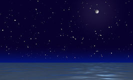 Superficie del agua de la noche imágenes de archivo libres de regalías