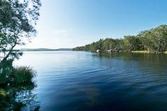 Superficie del agua del lago Myall imágenes de archivo libres de regalías