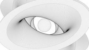 Superficie del alambre formada en la forma de ojo almacen de video