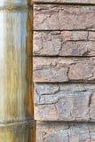 Superficie del bambù e di legno Immagine Stock Libera da Diritti