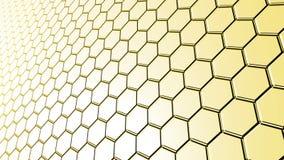 Superficie del color amarillo de las tejas hexagonales Fotos de archivo libres de regalías