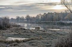 Superficie del fiume di autunno Immagini Stock Libere da Diritti