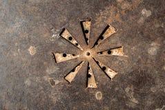 Superficie del fondo arrugginito di struttura del ferro Fotografia Stock Libera da Diritti