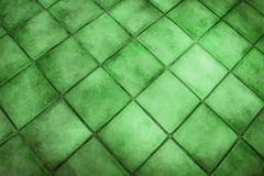 Superficie del fondo delle mattonelle verdi Immagine Stock