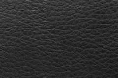 superficie del fondo negro de cuero del vintage Foto de archivo libre de regalías