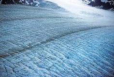Superficie del ghiacciaio di Muir Fotografie Stock