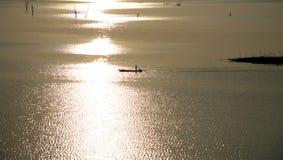 Superficie del lago gold Imagenes de archivo