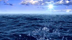 Superficie del mar almacen de metraje de vídeo