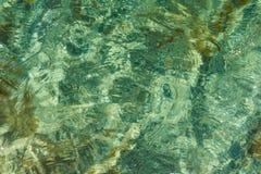 Superficie del mar con una reflexi?n Abstracci?n ilustración del vector