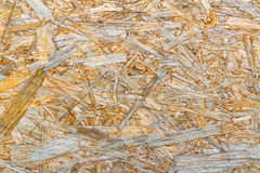 Superficie del primer de la placa de OSB Textura de madera natural abstraiga el fondo Foto de archivo libre de regalías