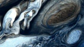 Superficie del ` s de Júpiter y el gran punto rojo ilustración del vector