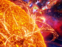 Superficie del sol Imagen de archivo libre de regalías