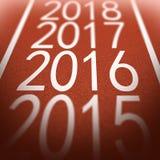 Superficie 2016 del tartán Imagen de archivo