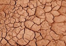 Superficie del terreno asciutto. Sfondo naturale Fotografie Stock Libere da Diritti