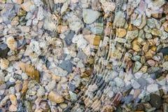 Superficie dell'acqua dell'oceano con il fondo Fotografia Stock