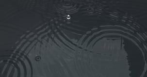 Superficie dell'acqua delle ondulazioni di goccia fotografia stock libera da diritti
