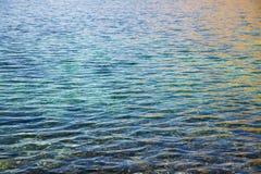 Superficie dell'acqua nel lago Immagine Stock Libera da Diritti