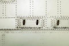 Superficie dell'alluminio della fusoliera di aerei Fotografia Stock Libera da Diritti