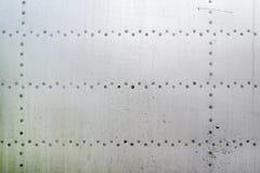 Superficie dell'alluminio della fusoliera di aerei Immagine Stock Libera da Diritti