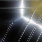 Superficie dell'alluminio Fondo geometrico metallico di struttura Fotografia Stock
