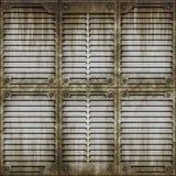 Superficie della finestra del metallo illustrazione di stock