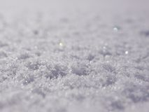 Superficie della neve Fotografia Stock