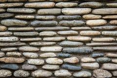 Superficie della parete di pietra con cemento Fotografia Stock