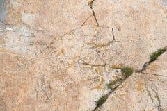 Superficie della roccia con la sabbia Immagini Stock