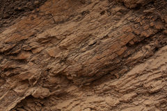 Superficie della roccia di colore marrone Immagine Stock
