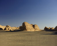Superficie della Terra yadan unica nel deserto di Gobi Fotografia Stock Libera da Diritti
