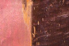 Superficie di ferro arrugginito con i resti di vecchio fondo della pittura Immagini Stock Libere da Diritti