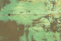 Superficie di ferro arrugginito con i resti di vecchio fondo di struttura della pittura Fotografia Stock