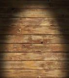 Superficie di legno afflitta illuminata drammaticamente Immagine Stock Libera da Diritti