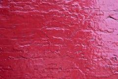 Superficie di legno dipinta nel rosso Fotografia Stock Libera da Diritti