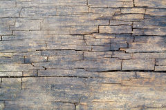 Superficie di legno incrinata Immagine Stock Libera da Diritti