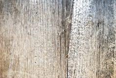 Superficie di legno misera parzialmente dipinta Immagini Stock