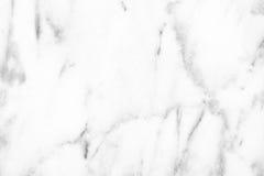 Superficie di marmo bianca della luce naturale di Carrara per il bagno o il kitch Fotografie Stock