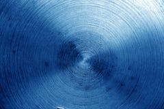 Superficie di metallo con i graffi nel tono dei blu navy Immagini Stock