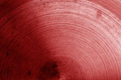 Superficie di metallo con i graffi nel tono rosso Immagine Stock Libera da Diritti