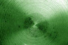 Superficie di metallo con i graffi nel tono verde Immagini Stock Libere da Diritti